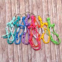 Mini-touwhalsters met naam en sierraad